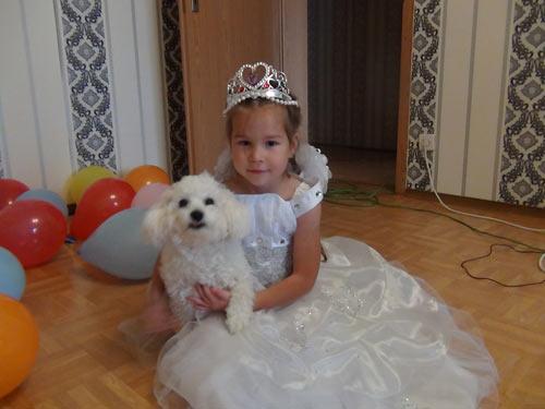 Вика Федяева с собакой Масей