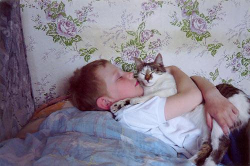 Егор Грицовец и Пуся: Любители поспать.