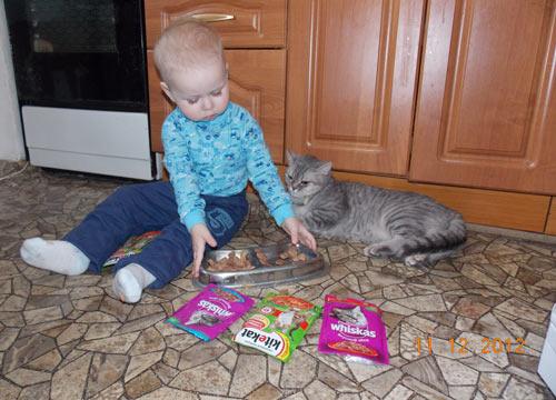 Жуков Глеб и любимая кошка Дельта