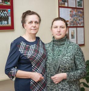 Татьяна Анатольевна со своим классным руководителем, а теперь коллегой, Надеждой Яковлевной.