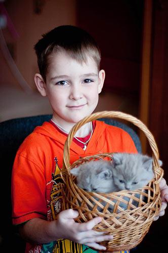 Богданов Ярослав, 7 лет и его маленькие воспитанники Агат и Асия