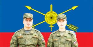 Будущие офицеры нашей армии: Богдан Егоров (слева) и Артем Сериков (справа).