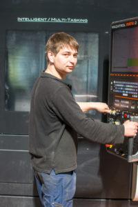 Алексей Афанасьев - один из многочисленных молодых рабочих завода.