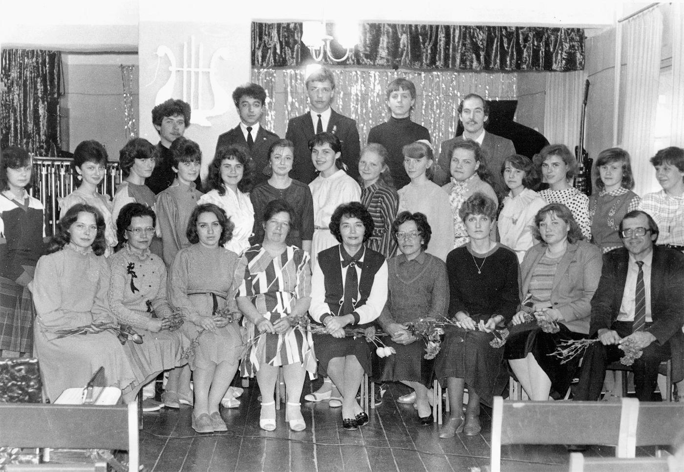 Творческий коллектив ДШИ, 1987 год.