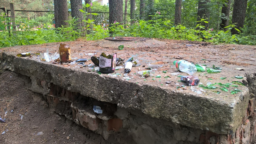 Оставить после себя мусор для многих - в порядке вещей.