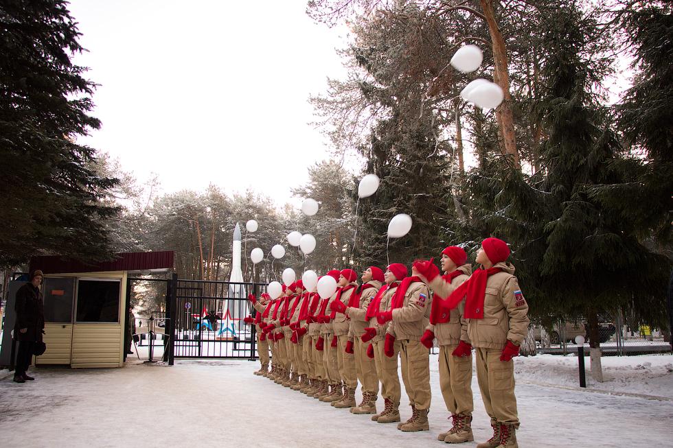 Юнармейцы Озерного приняли активное участие в мероприятиях, посвященных Дню РВСН.