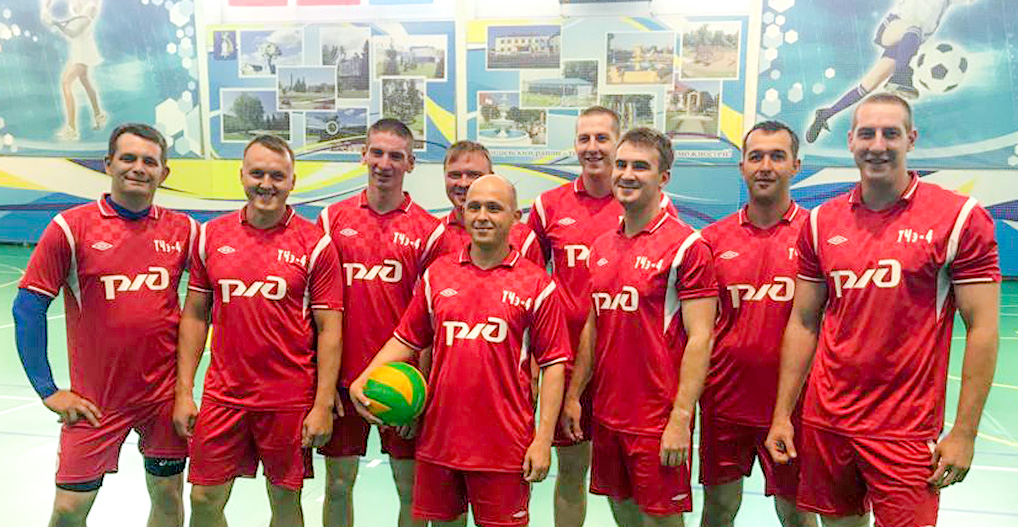 Команда волейболистов 7 ракетной дивизии.