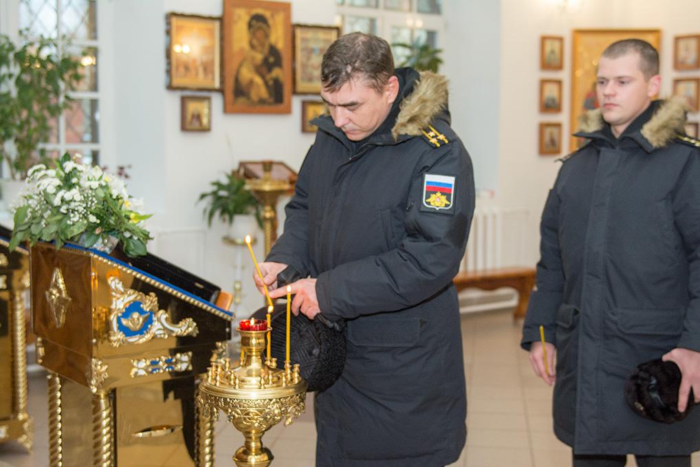 Озерчан и моряков атомного крейсера объединяет и небесный покровитель - Андрей Первозванный.