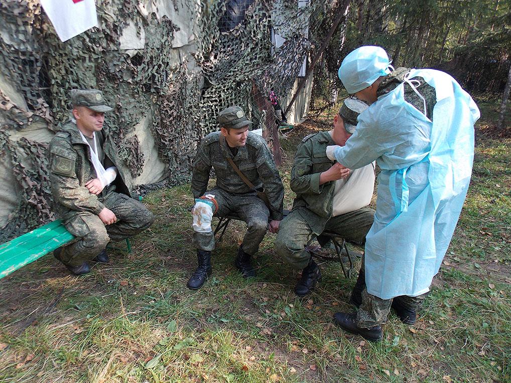 Полевой выход отдельного медицинского батальона, 2012 год.