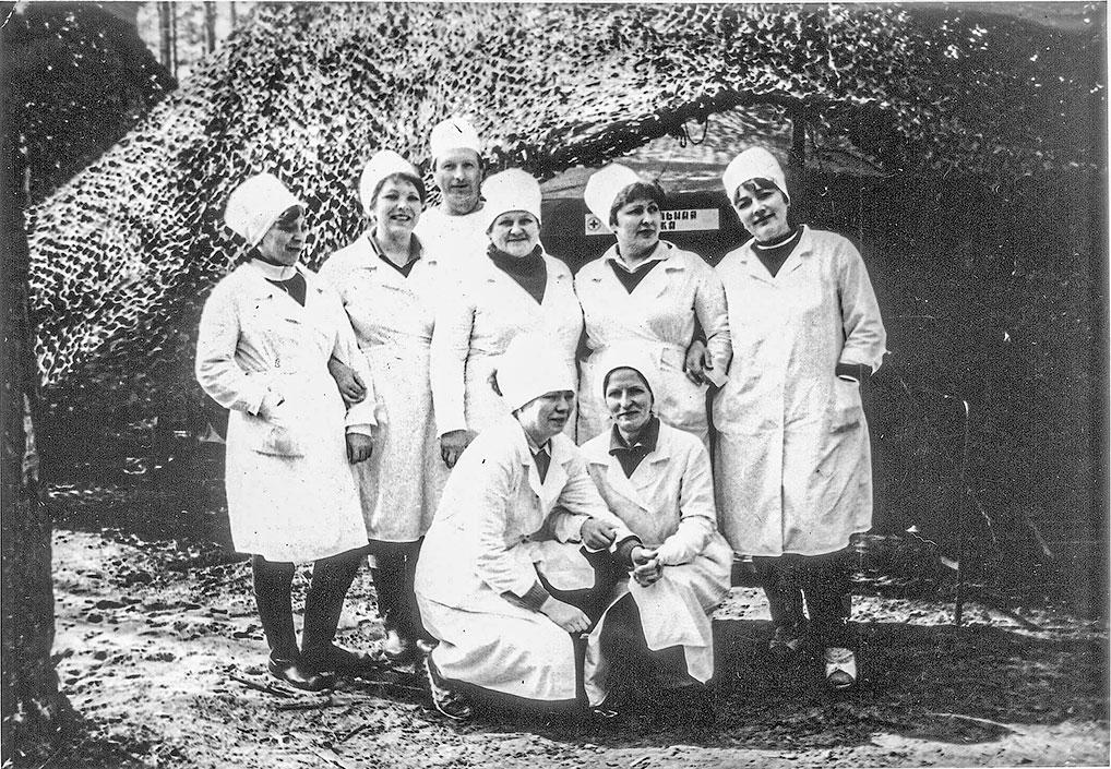Хирургическое отделение, выезд на учения, 80-е годы.