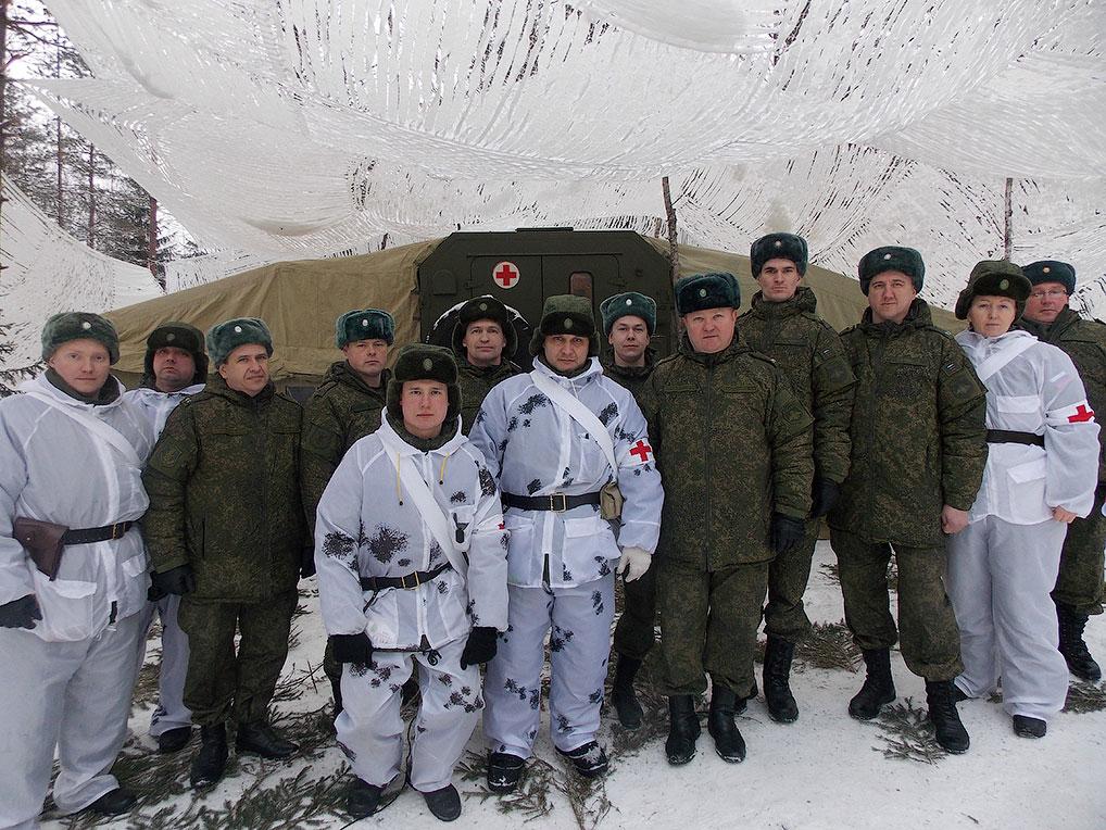 Полевой выход отдельного медицинского батальона, 2015 год.