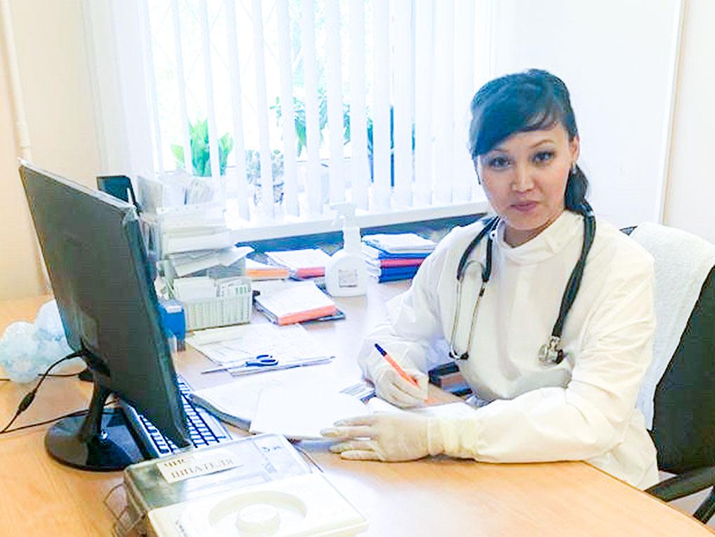 Врач-инфекционист  А.В. Илькуева, 2020 год.