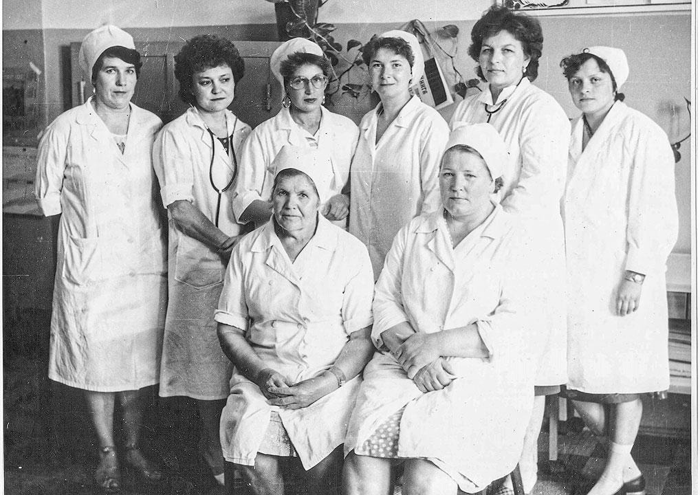 Коллектив терапевтического отделения, 1988 год.