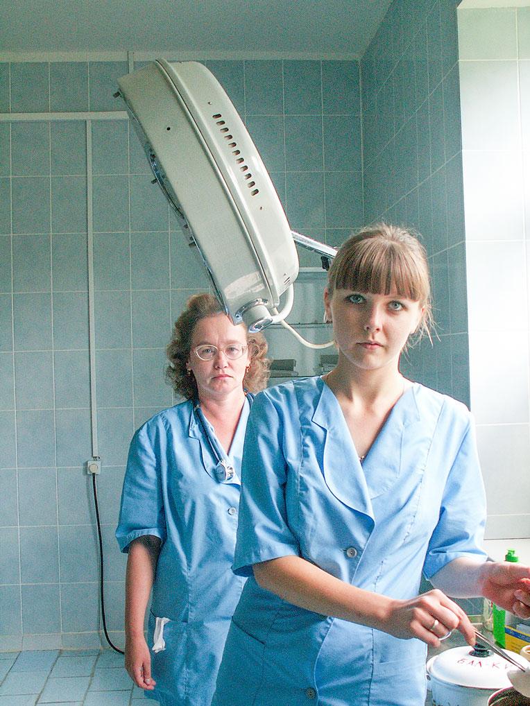 Сотрудницы родильного отделения, 2006 год.